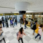 Hallway camera in a school providing a safe and secure learning environment, How to optimize school safety for COVID-19